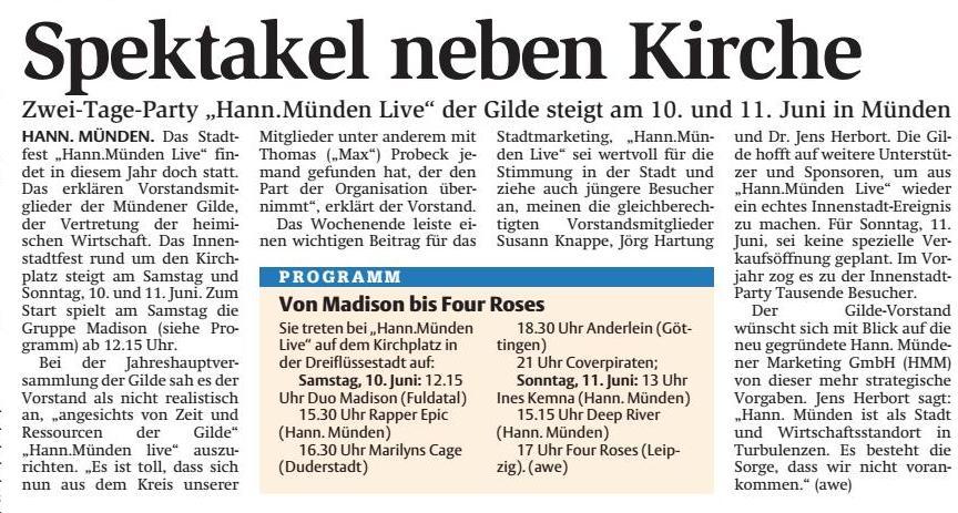 Hann.Münden Live @ Kirchplatz