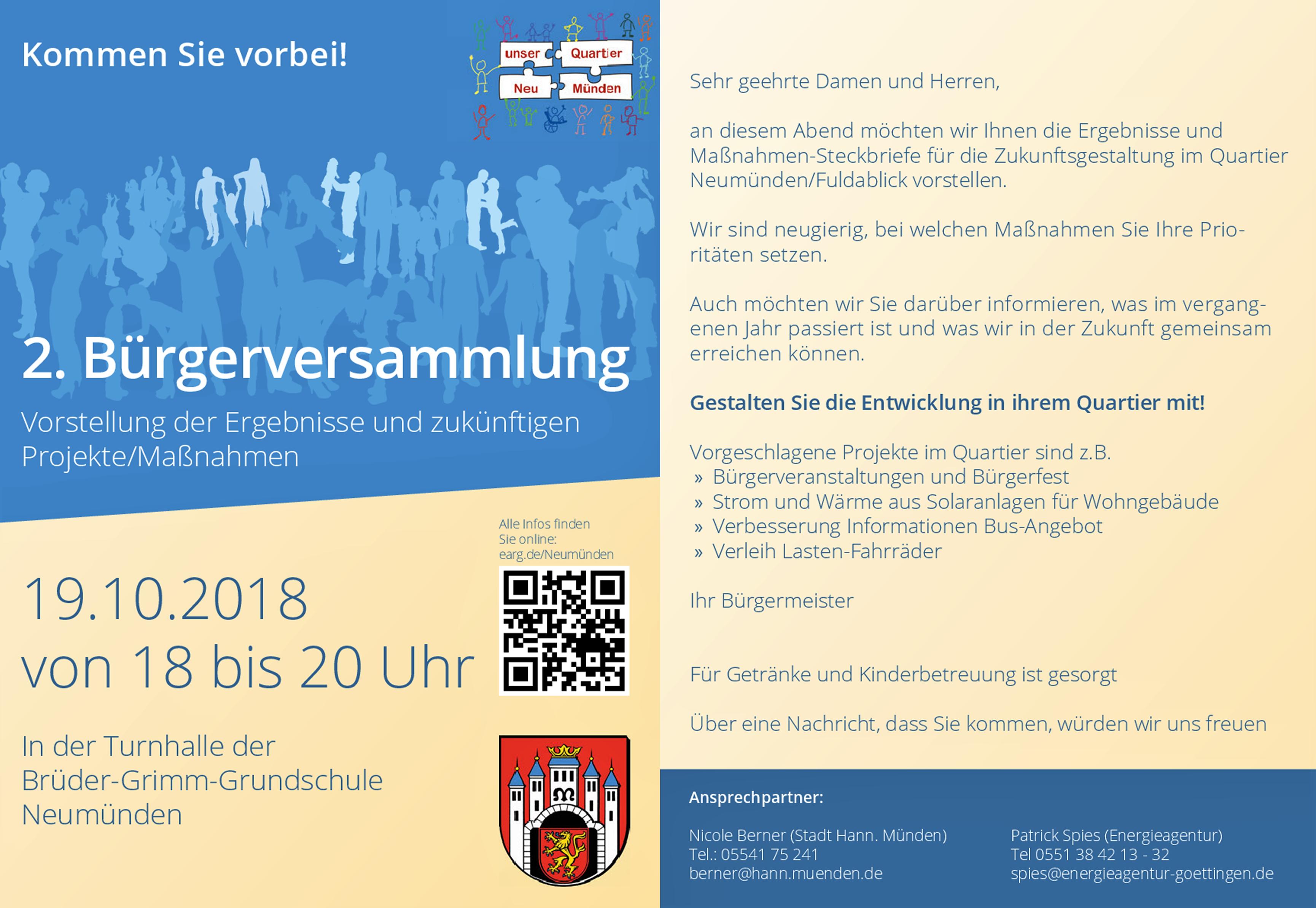 2. Bürgerversammlung in Neumünden @ Turnhalle der Brüder-Grimm-Schule