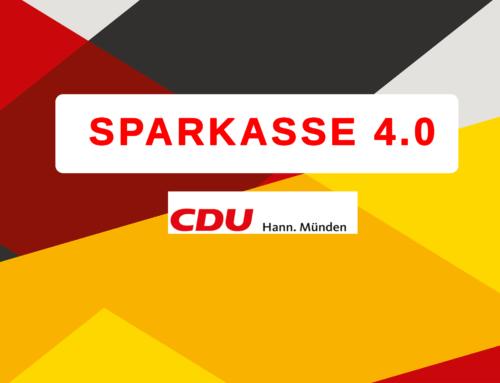 Sparkassenfusion gescheitert – CDU Hann. Münden fordert jetzt die richtige Weichenstellung