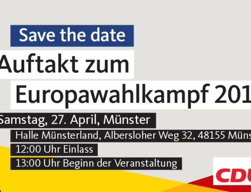Auftakt zum Europawahlkampf – 27. April 2019 in Münster