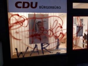 Farbattacke auf CDU-Geschäftsstelle in Hann. Münden